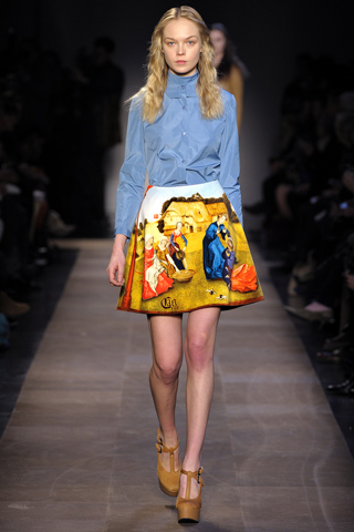 The Carven skirt on the f/w 12 runway