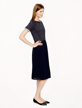 What to wear to work when it's hot as hell out? Try a silk midi skirt like this one from J.Crew. You can dress it up or dress it down and stay cool all the while.