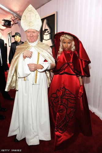 Nicki Minaj and companion