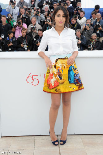 French actress Leïla Bekhti poses during a photocall of the Un Certain Regard jury at the 65th Cannes film festival