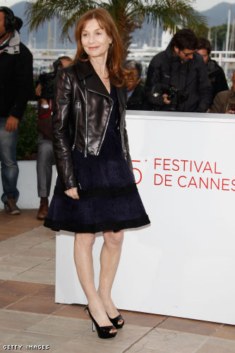 "Isabelle Huppert poses at the ""Amour"" Photocall during the 65th Annual Cannes Film Festival at Palais des Festivals"