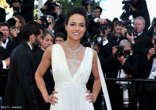 "Michelle Rodriguez at the ""Killing Them Softly"" premier at Cannes"
