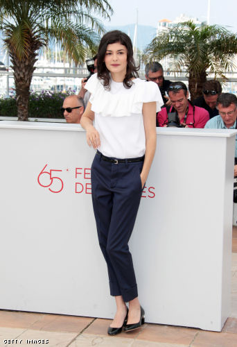 "French actress Audrey Tautou poses during the photocall of ""Therese Desqueyroux"" presented out of competition at the 65th Cannes film festival"