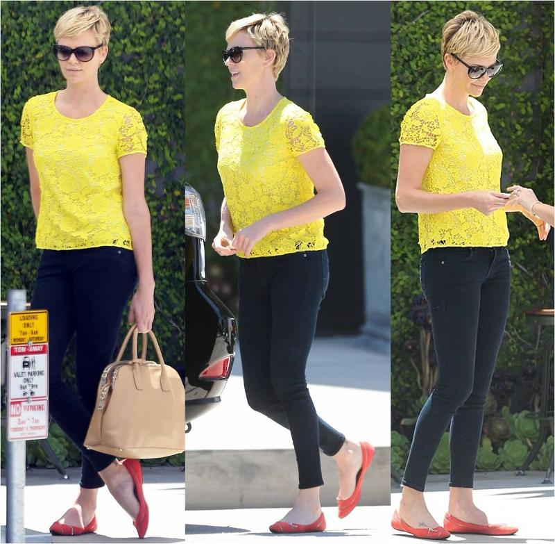 Charlize Theron wearing Level 99 Janice Skinnies