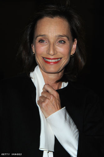 Kristin Scott Thomas attends the Lanvin Spring / Summer 2013 show as part of Paris Fashion Week