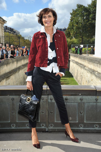 Ines De La Fressange arrives at the Christian Dior Spring / Summer 2013