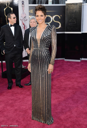 Halle Berry shimmers in Marchesa