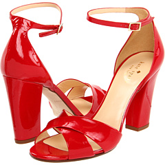 Kate Spade New York Isabel in red patent has a crisscross strap and just right from office, to capri pants, to an after work date night