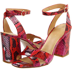 Nine West Vanbra adds a pit of snaky charm to a red ankle strap sandal