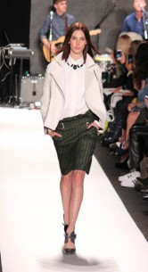 Don't you love the leathers? Rebecca Minkoff Fall 2013 Runway Trends Review and Fashion Show Reviews