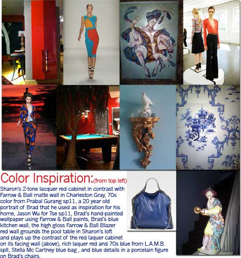 Color Inspiration Board from home to the catwalk