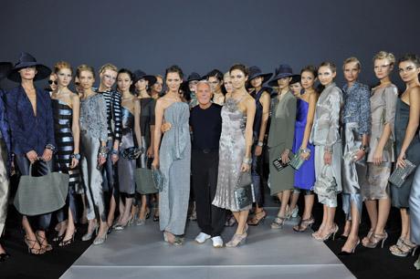 Giorgio Armani spring 2012 fashion show finale