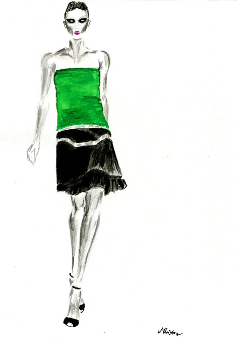 Gucci Spring/ Summer 2012 look 3 by Michalis Christodoulou