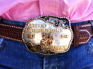 Jamie's trophy belt buckle