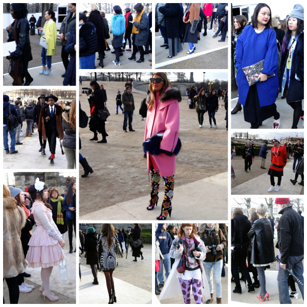 Fashionistas outside Nina Ricci fall 2014