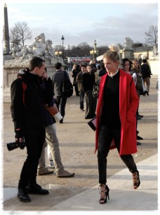 Le Coat: Channel French Chic Street Style with a red topper