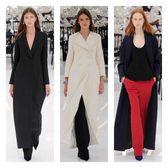 A selection of forever chic maxi coats in classic hues made an impact