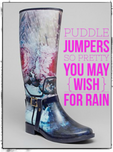 Stylist Advice- How to wear patterned & stylish rain boots like a grown up