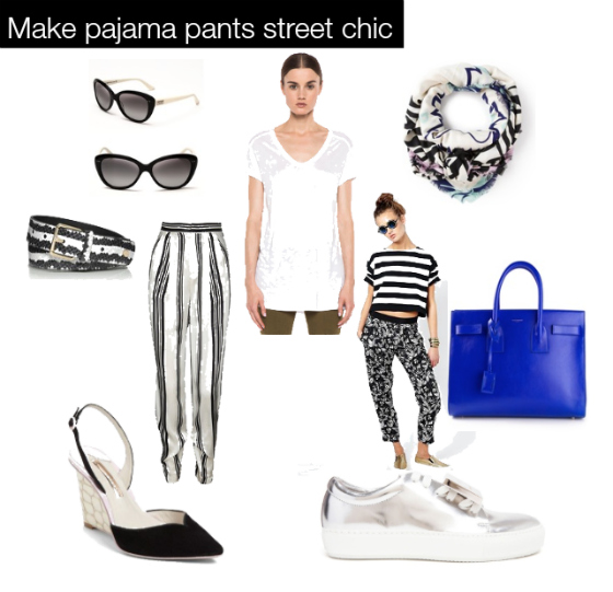 Make pajama pants street chic