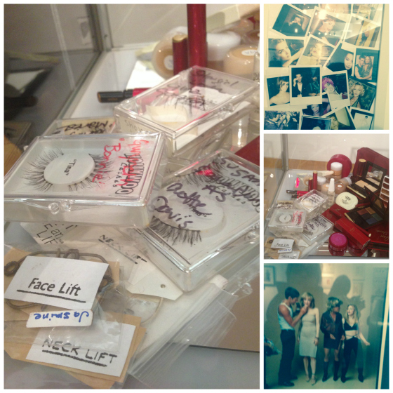 The Makeup Show also had an exhibition of Kevin Aucoin's work, celebrity polaroids, and his last makeup kit, which includes Neck Lift and Face Lift elastics.