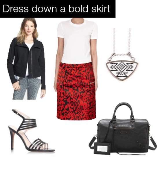 dress down a BOLD SKIRT