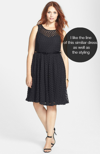 """I prefer the line and styling of this similiar belted,  """"almost"""" swing dress."""