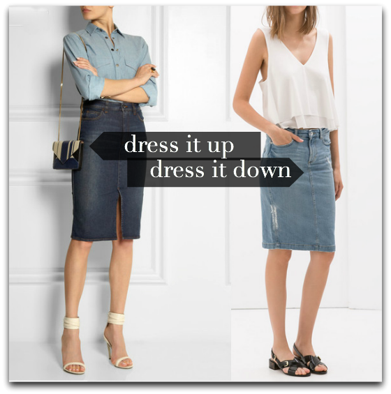 denim skirt- victoria beckham-zara