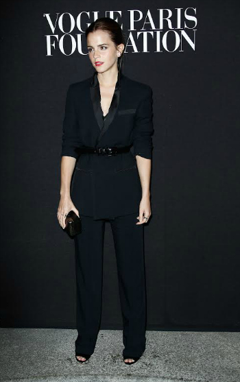 Looking effortless and chic; Emma Watson in Givenchy by Riccardo Tisci