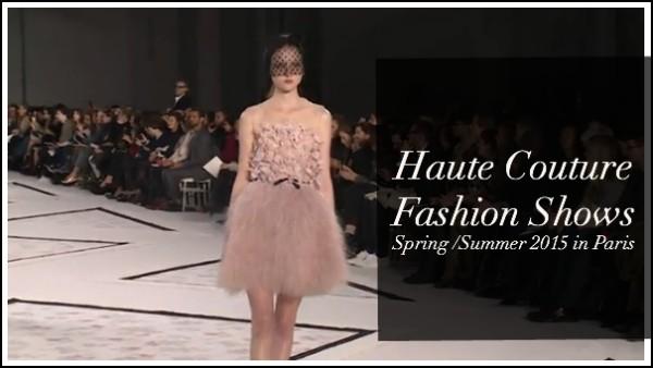 Haute Couture Fashion Show Spring Summer 2015 in Paris