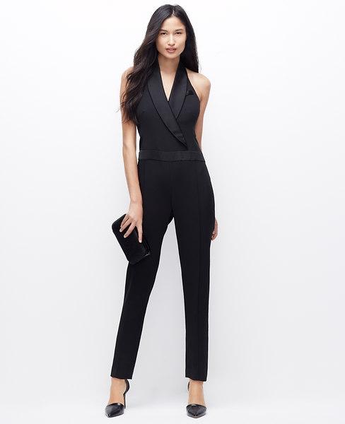 ann tay;or tuxedo jumpsuit