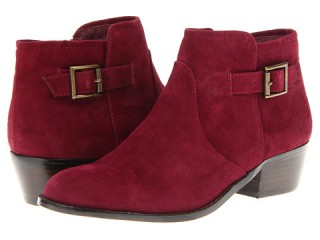Steve Madden Prizzze buckle ankle boots add a stylish touch to casual clothes