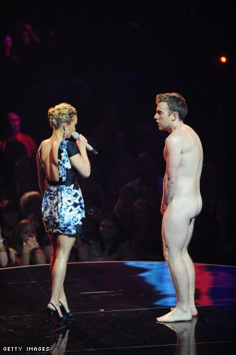 Hayden Panettiere and the birthday suit dude. Please don't tell me it's the return of streakers