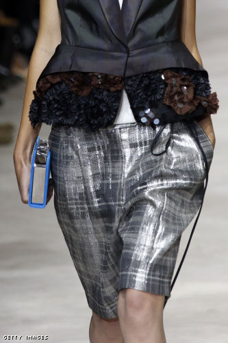 Long shorts, like these from Dries Van Noten Spring 2013, take on a certain grown-up gam and are far more refined than butt baring short shorts