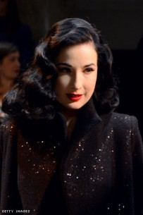 Dita von Teese at Elie Saab's show during the Haute Couture Spring-Summer 2013