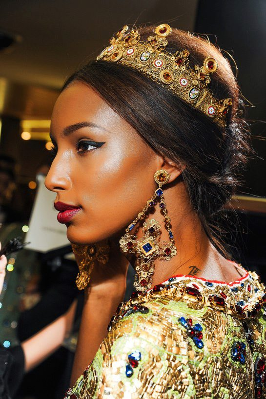 Backstage at Dolce & Gabbana
