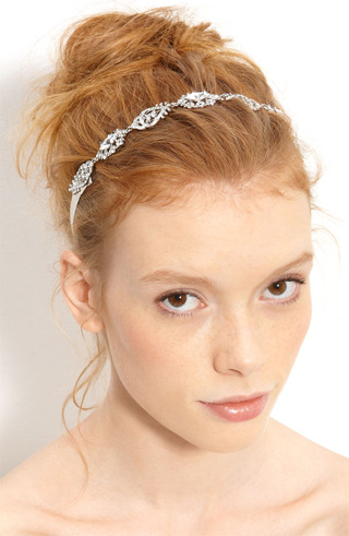 Nina Crystal Ribbon Head Wrap at Nordstrom