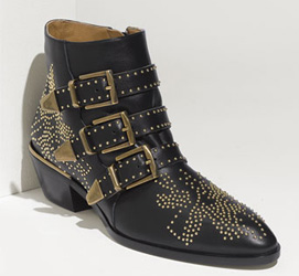 Nagore is wearing Chloe 'Suzanne Studs' Buckle Booties, but I pulled some more wallet-friendly ones below