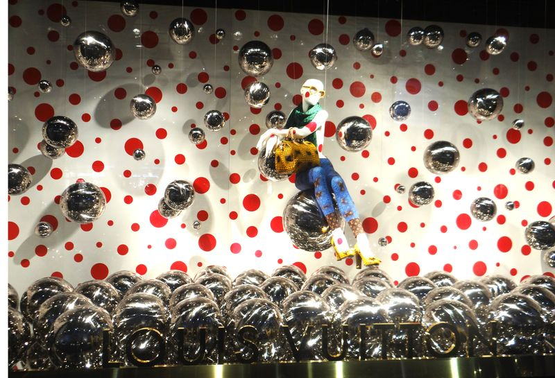 Louis Vuitton has opened a pop-up shop dedicated to the dot obsessed Japanese artist Yayoi Kusama