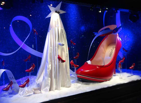 BHV Paris Holiday Windows in Collaboration with Alexis Mabille