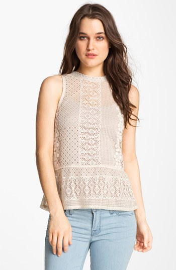 Sanctuary Vintage Lace Peplum Top