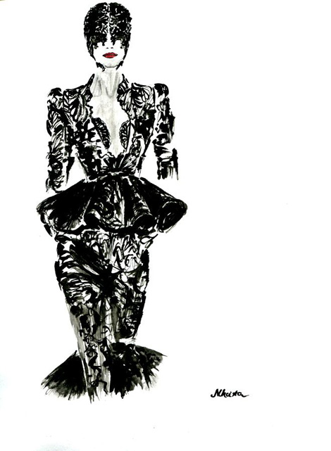 Alexander McQueen by Sarah Burton Spring- Summer 2012 look 1 by Michalis Christodoulou