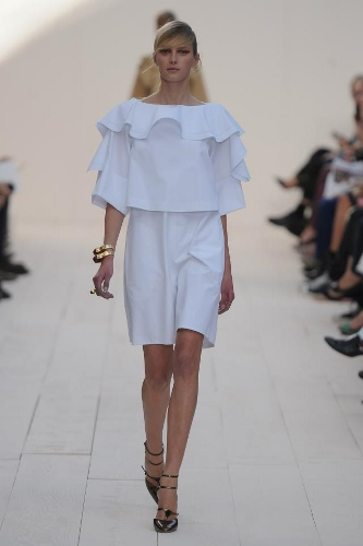 Transition to Spring-with ruffles,  this inspiration from Chloe S/S 2013, and above, top.