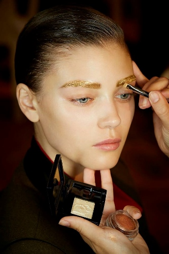 Backstage at Christian Dior