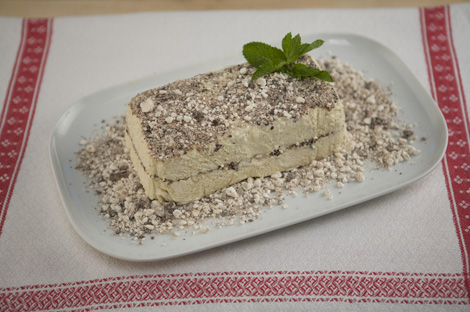 chocolate and chestnut semifreddo
