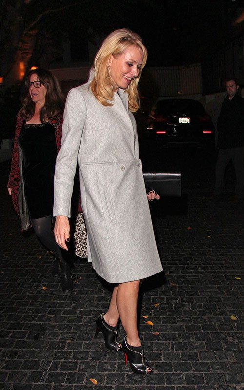 Naomi Watts in a Carven coat