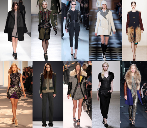New York Fashion Week Trends From Fall 2013: FABRIC MIXING
