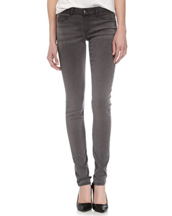 Fade to Blue Faded Skinny Jeans, Gray