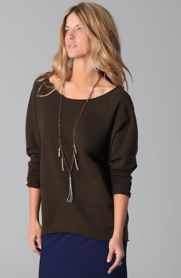 Haute Hippie Sweatshirt has all the comfy bells & whistles but stylish enough to pair with more grown-up pieces