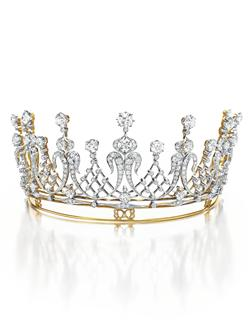 The Mike Todd Diamond Tiara An Antique Diamond Tiara, circa 1880 Gift from Mike Todd, 1957 Estimate: $60,000-80,000