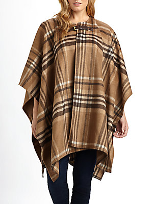MICHAEL MICHAEL KORS large plaid blanket coat